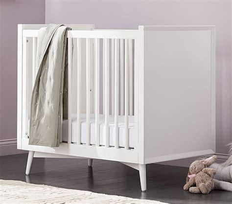 west elm crib west elm x pbk mid century mini crib with mattress white