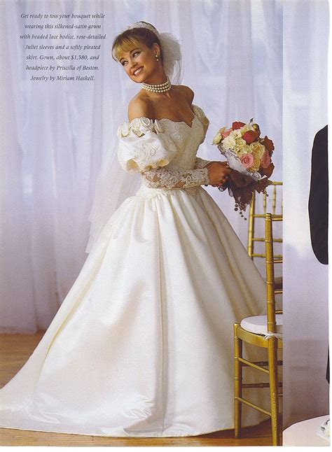 Pin By N Loren On 80s And 90s Bridal Wedding Fashion