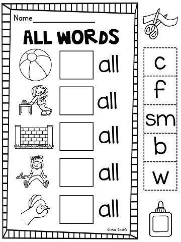 consonants ll ss zz ff worksheets activities no prep phonics activities and