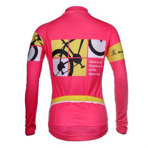 best road bike jacket womens long sleeve cycling jacket pink road bike bicyle