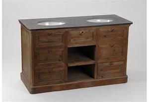 Meuble Vasque Retro : meuble double vasque de salle de bain amadeus amadeus 16233 ~ Teatrodelosmanantiales.com Idées de Décoration