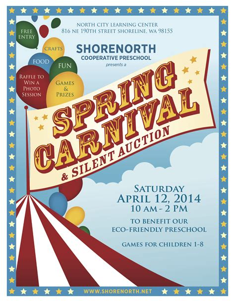 shoreline area news carnival and silent auction 630 | ShoreNorth SpringCarnival 2014 LTR