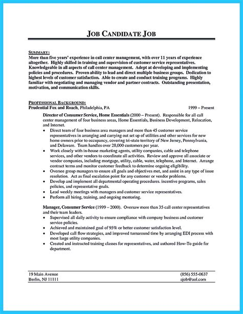 Uwo Resume Center by Create Charming Call Center Supervisor Resume With
