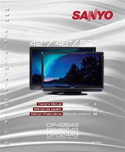 Buy Sanyo Dp42849om Dp42849 Operating Manual
