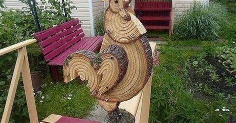 petushokreally cool rooster   log wood slices