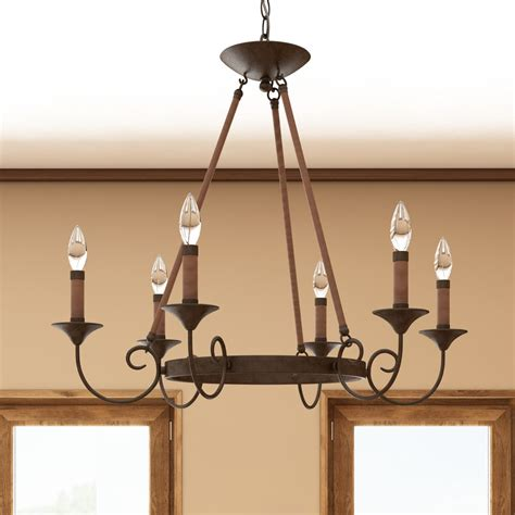 6 light candle style chandelier loon peak jacy 6 light candle style chandelier reviews