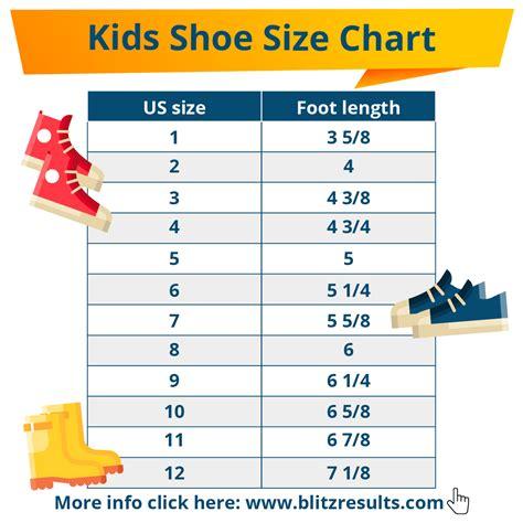 kids shoe sizes conversion charts size  age   measure