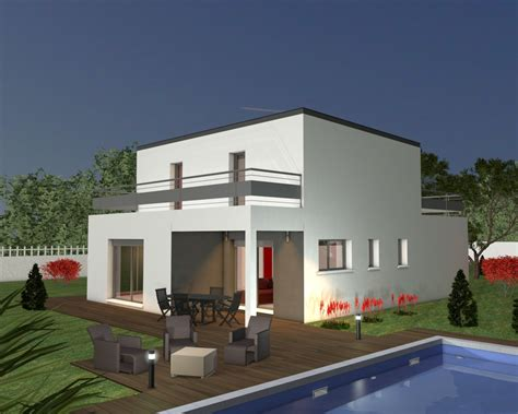 maison moderne plain pied 4 chambres plans maison gratuits plan