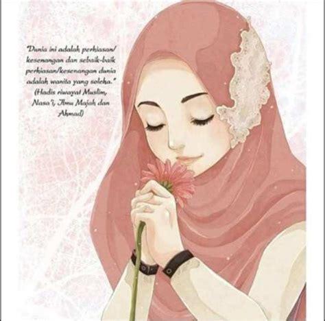 animasi kartun hijab cantik tutorial hijab terbaru