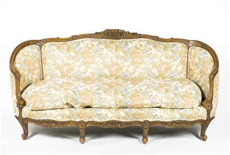 Custom Made Carved French Style Sofa