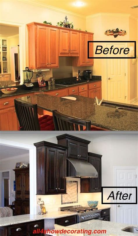 staining kitchen cabinets before and after only best 25 ideas about honey oak cabinets on 9380