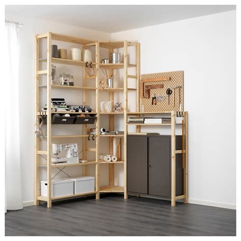 ikea scaffali ivar ivar 3 section shelving unit w cabinets in 2019 home