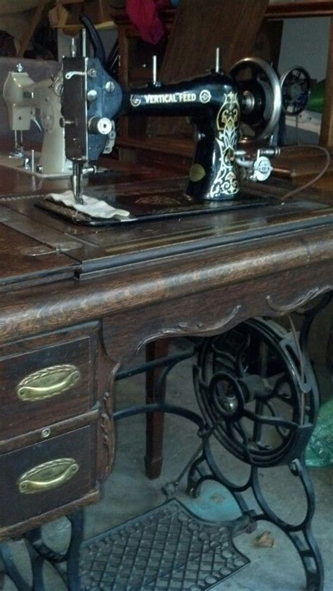 davis vertical feed treadle mine sewing quilting machines pinterest