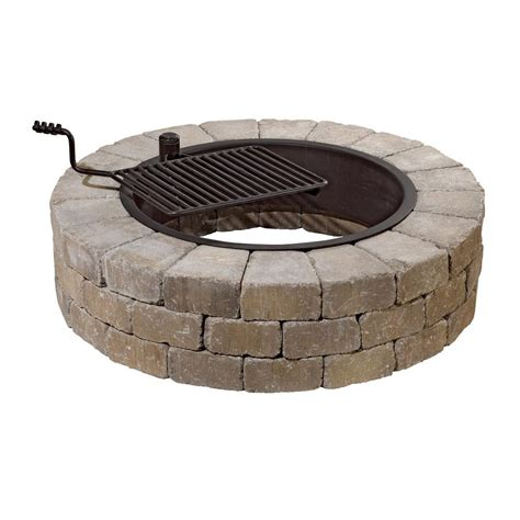 santa fe pit necessories 48 in grand concrete fire pit in santa fe with cooking grate shop your way