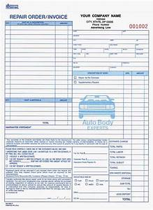 4 part auto repair order invoice business pinterest With mechanic invoice template pdf