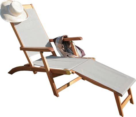chaise avec repose pied chaise longue chilienne avec repose pieds design en image