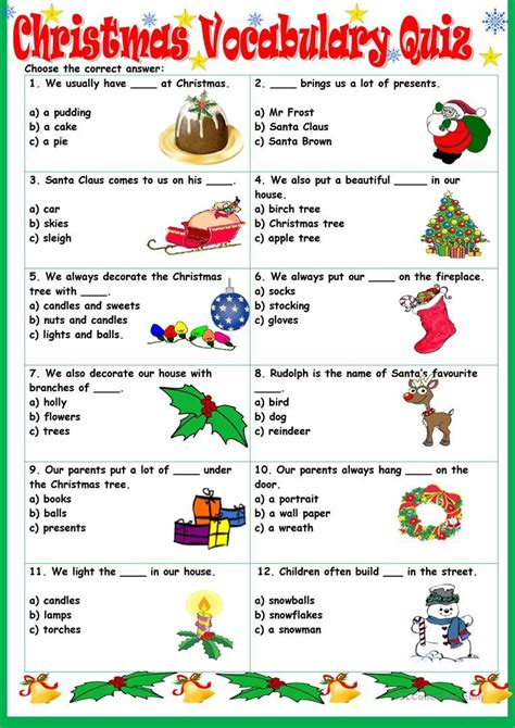 vocabulary quiz worksheet free esl printable