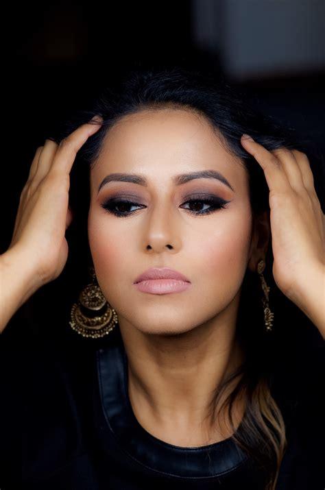 brown smokey eye makeup  indian bridal makeup boston