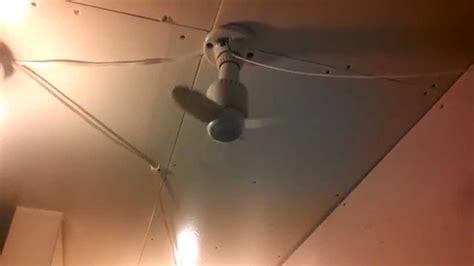 vintage light socket in ceiling fan