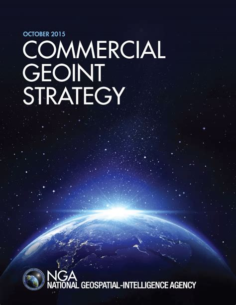 nga establishes commercial geoint strategy earth imaging
