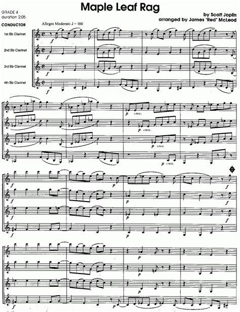 The maple leaf rag (copyright registered 18 september 1899) is an early ragtime musical composition for piano composed by scott joplin. Notendatenbank.ch/details/Maple Leaf Rag (8434730)