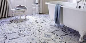 sol vinyle salle de bains le revetement qui a tout bon With revetement salle de bain leroy merlin