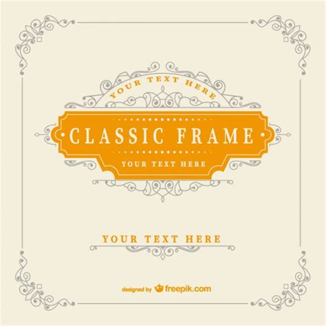 vintage classic frame template vector