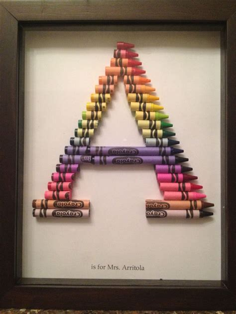 crayon monogram  attempt recycled paper art customer gifts crayon letter