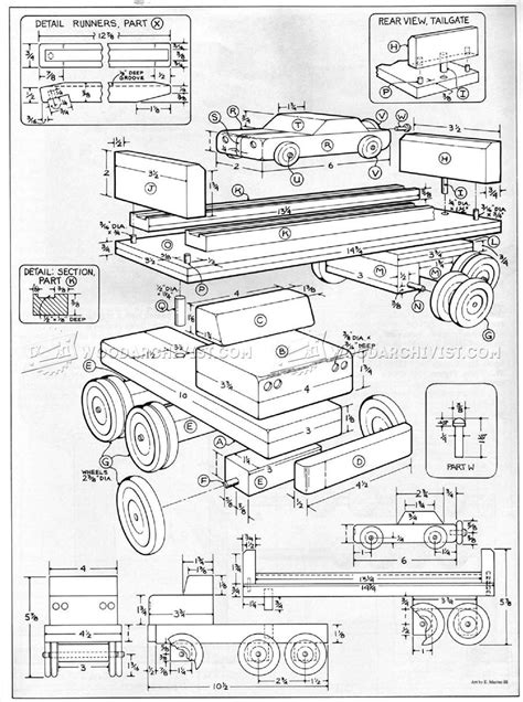 wooden toy car carrier plans wooden toy plans