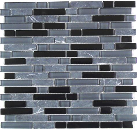 blue grey black glass stone brick border mosaic tiles