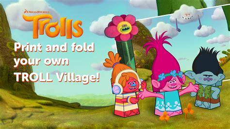 trolls village printable craft printables  mom