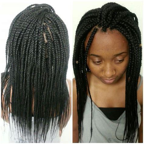 medium length box braid for hairstylo
