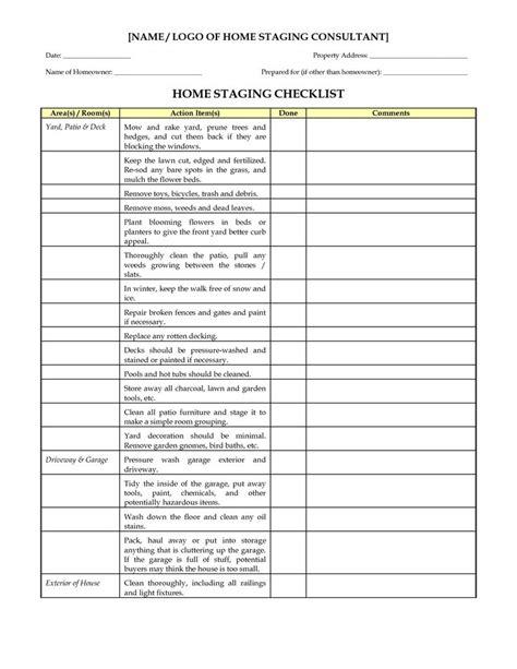 home design checklist home staging checklist marketing materials