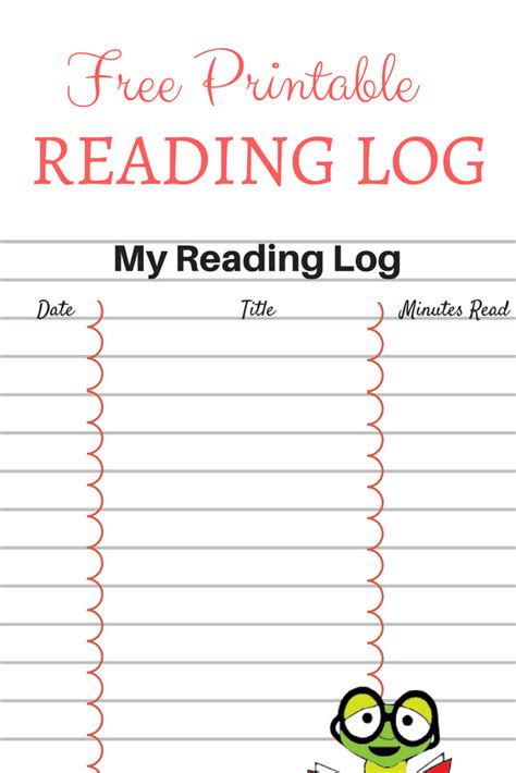 Printable Reading Log For Your Children  Ever After In The Woods