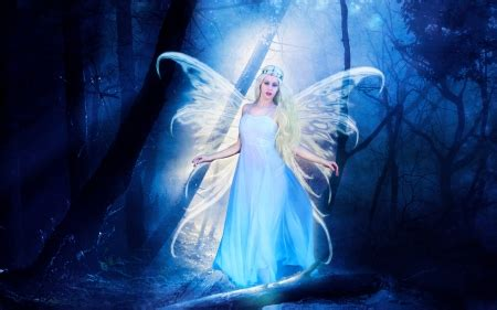 blue angel fantasy abstract background wallpapers