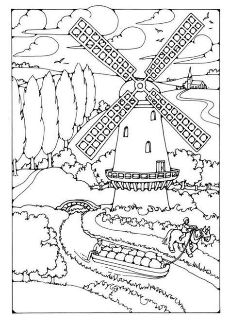 Molen Kleurplaat by Kleurplaat Molen Afb 19590 Images