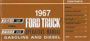1967 Ford F100 F250 F350 Pickup Truck Owner U0026 39 S Manual Reprint