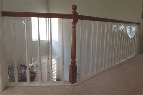 Child Proof Banister by Baby Proof Stair Railing Safety Mesh See Deck Railing