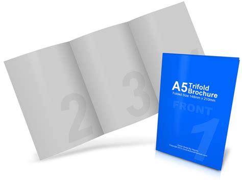 tri fold brochure mockup cover actions premium