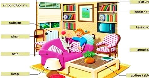 Living Room Vocabulary With Pictures by 22 Vocabulary Living Room Wall Level 1 Living