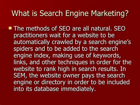 define seo marketing what is search engine marketing