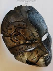 Steampunk Stone Metal Mask Full
