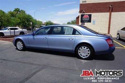 As with all things maybach ironically, the maybach's trunk capacity is quite a bit smaller than that of the model on which it's based: 2005 Maybach 62 LWB Sedan Long Wheel Base ~ LOW MILES!! for sale in Mesa, AZ / ClassicCarsBay.com