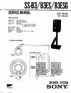 Sony Ss-b3  Ss-b3es  Ss-b3esg Service Manual