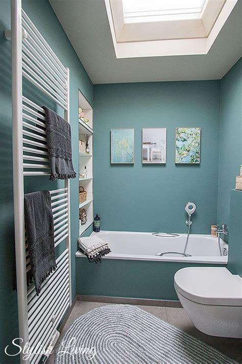 Kleines Bad Farbe kleines bad in farbe mit wandleuchte lena click licht