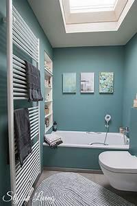 Bilder Bäder Einrichten : kleines bad in farbe mit wandleuchte lena von click werbung kleine b der t rkis und ~ Sanjose-hotels-ca.com Haus und Dekorationen