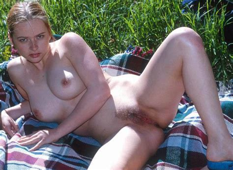 nasty bitch gladly shows her hairy pussy hole while posing outdoors russian sexy girls