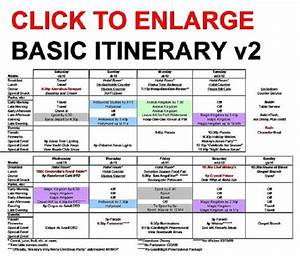 Mail And Comments  The Basic Walt Disney World Itinerary
