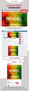 facebook event photo template - reggae party facebook event instagram template by
