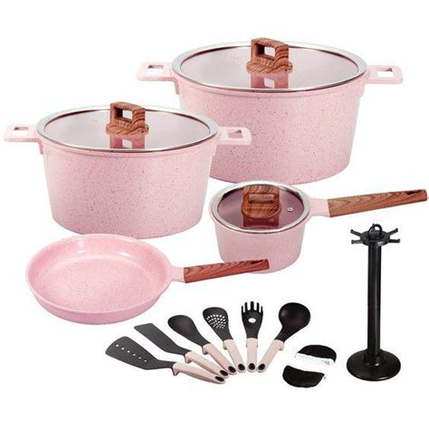 ceramic cookware pink mgc non stick granite coating piece crossbody cell bag phone china know need